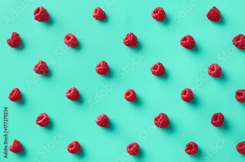 Colorful pattern of raspberries - 177270256