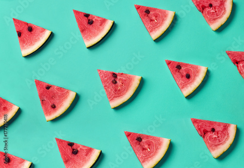 Colorful pattern of watermelon slices - 177270418