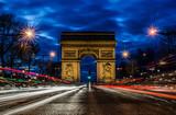 Arc de triomphe by night, Paris - 177270671