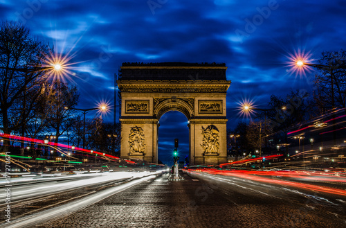 Arc de triomphe by night, Paris