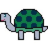 vector pixel art turtle - 177271473