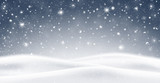Fototapety Winter background with falling snow