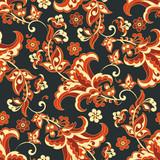 Seamless vintage vector background. Vector floral  pattern - 177275642