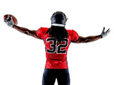 one american football player man isolated on white background - 177278407