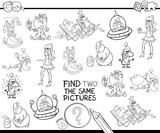 find two the same characters color book - 177288007