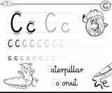 learn to write letter C workbook for kids - 177288089