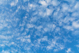 Blue sky with cloud, clean energy power, clear weather background