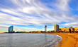Scenic view of the beach of Barcelona
