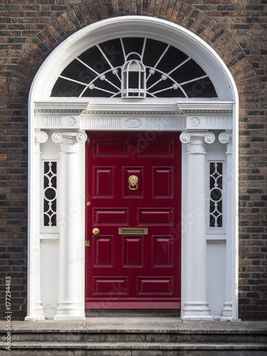 GEORGIAN DOOR - DUBLIN, IRELAND Poster