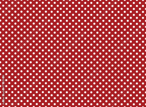 Red and White Polka Dot Background - 177301424
