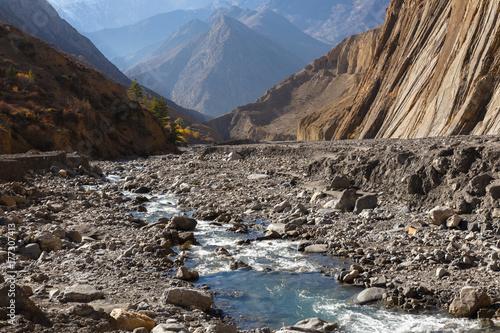 mountain stream in the gorge Plakát