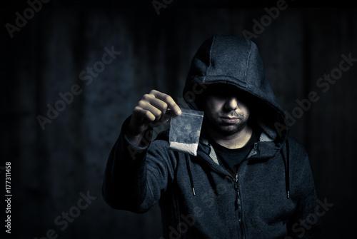Drug dealer in the dark Plakát