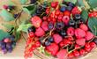 summer berries in a wicker basket