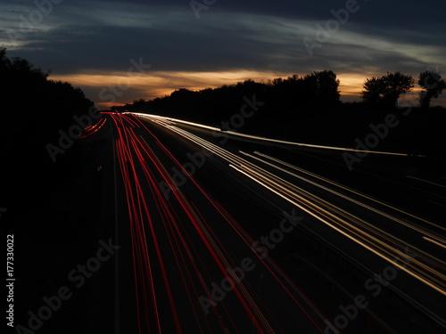 Fotobehang Nacht snelweg LE006