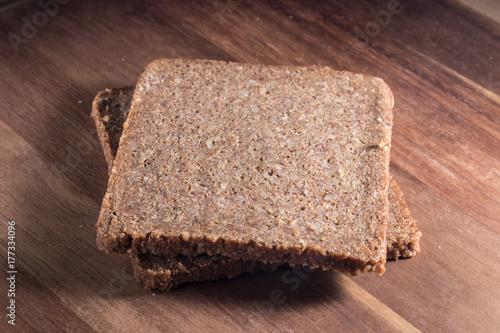 Loaf of organic rye bread