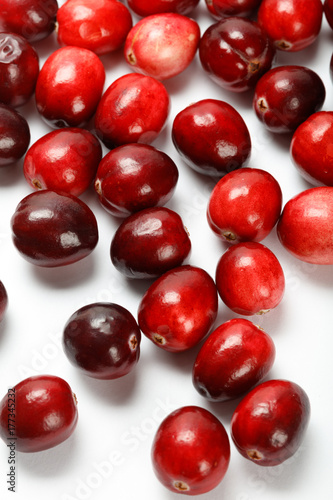 Poster red cranberry fruit