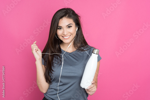 Poster Hispanic Woman Working Out