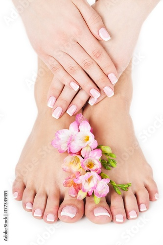 Fotobehang Pedicure Nails.