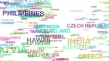 Name of the country is THAILAND collected from the names of all countries. Alpha channel. Transparency - 177350210