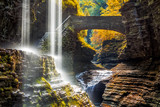 Watkins Glen State Park waterfall canyon in Upstate New York - 177356634