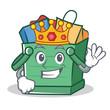 King shopping basket character cartoon