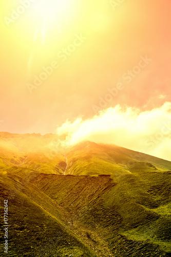 Fotobehang Lente Beautiful summer mountain landscape of Georgia.