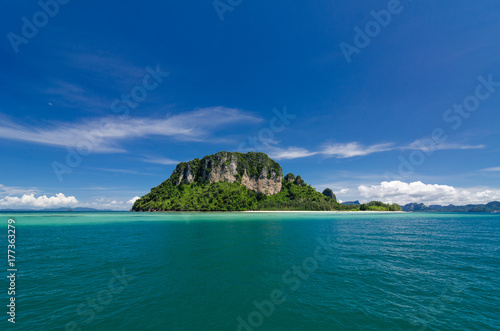 Aluminium Tropical strand Beautiful sunny day at Koh Khai & Koh Porda of Krabi province in Thailand