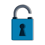 safety lock icon image vector illustration design  - 177367030