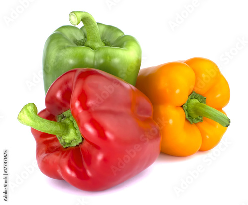 Bulgarian pepper isolated on white background - 177371675