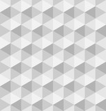 Paper hexagonal pyramids. Seamless vector pattern background. 3D relief.
