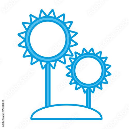 Sunflowers gardening symbol icon vector illustration graphic design