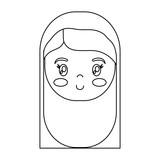 cartoon virgin mary icon over white background vector illustration - 177381043
