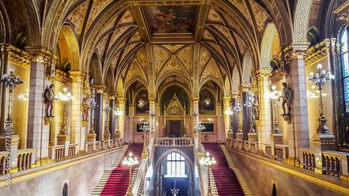 Foto op Canvas Boedapest Interior of Hungarian parliament.Budapest
