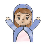 cartoon virgin mary icon over white background vector illustration - 177382205