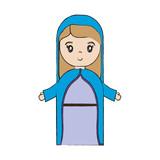 cartoon virgin mary icon over white background vector illustration - 177384061