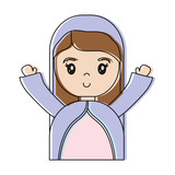 cartoon virgin mary icon - 177387855