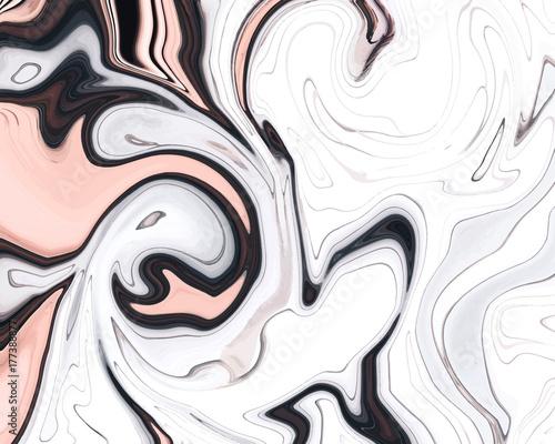Eleganckiego ciekłego atramentu menchii tekstury marmuru wektorowy abstrakcjonistyczny tło