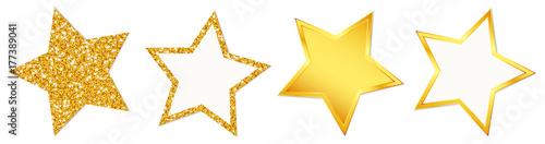 4 Stars Sparkling Shining Golden - 177389041