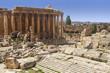 Roman Ruins And Stone Columns - Bacchus Temple In Baalbek, Lebanon