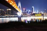 modern bridge and cityscape of modern waterfront city