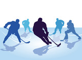 Hockeyspieler, Skaten mit Hockey - 177401019
