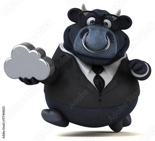 Black bull - 3D Illustration
