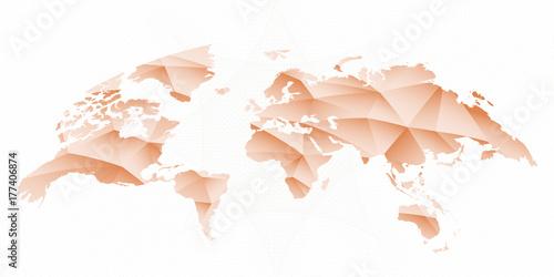 Fotobehang Wereldkaarten Rounded World Map. Vector Illustration.