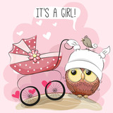 Greeting card it is a girl - 177413815