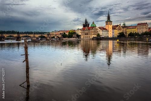 View of the Vltava River. Prague. Czech Republic. Poster