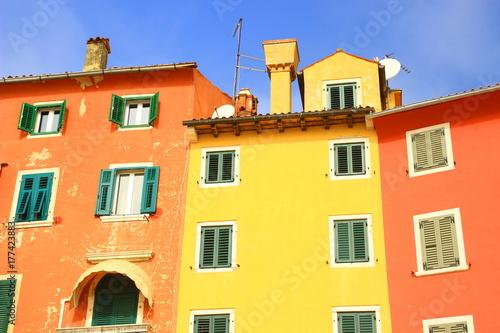 Colorful houses in Rovinj, Croatia Poster