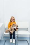 little girl with teddy bear - 177425259