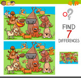 find differences game with dog characters - 177425835