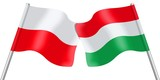 Flags. Poland and Hungary