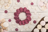 circle of berry marshmallows - 177430644